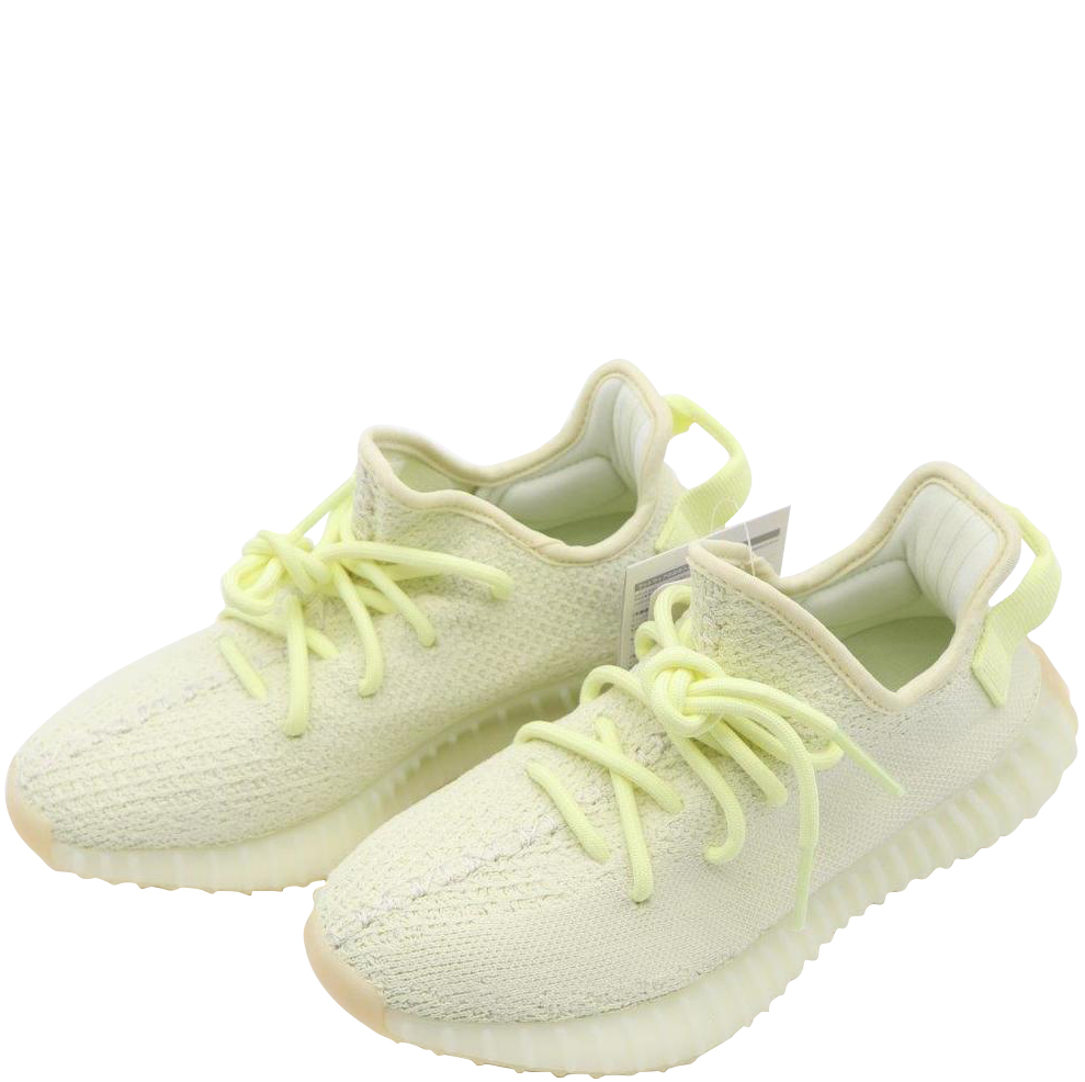 new arrival bcc28 9247b ... Adidas Yellow Cream White Cotton Knit Boost 350 V2 Sneakers Size 35.5.  nextprev. prevnext