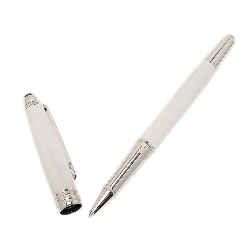 Montblanc White Laquer Rollerball-Pen