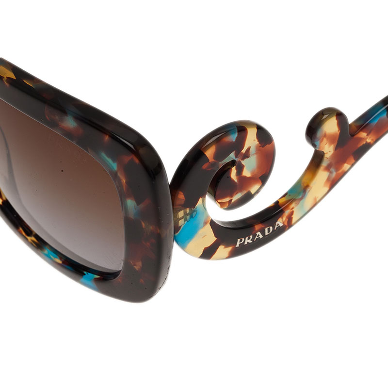 Prada Brown Tortoise Frame Baroque Sunglasses