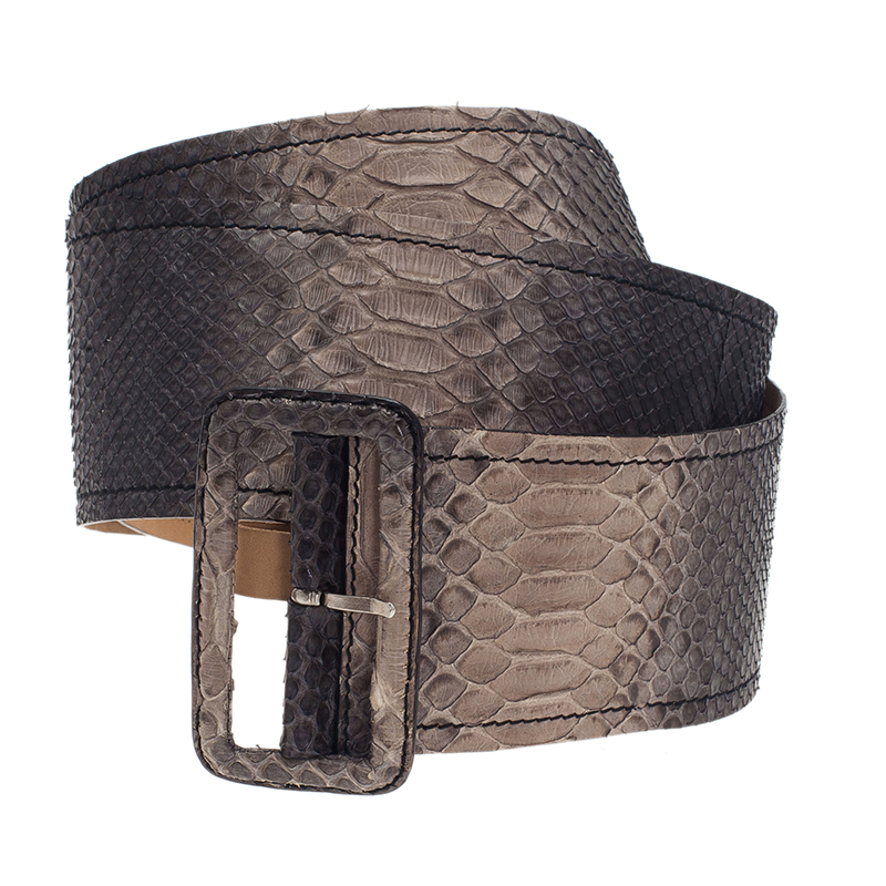 LC - Buy \u0026amp; Sell - Prada Grey Python Waist Belt 85CM