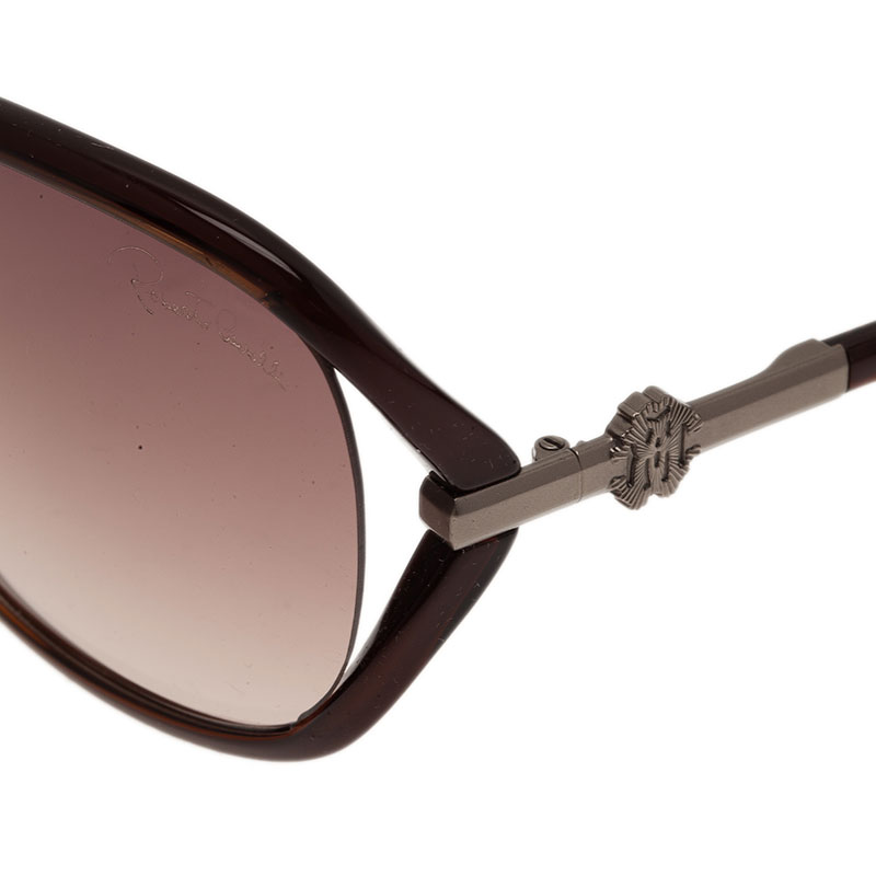 Roberto Cavalli Brown Edera Square Sunglasses
