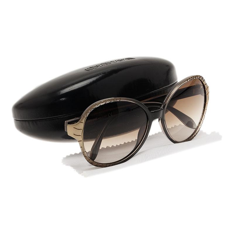 Roberto Cavalli Brown Maria Round Sunglasses