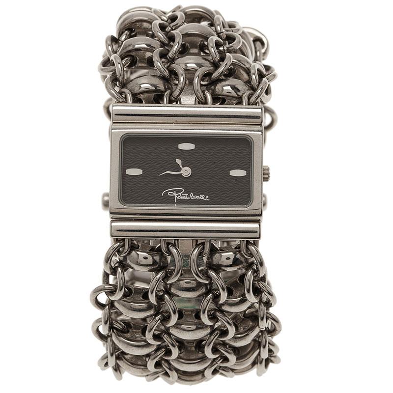 Roberto Cavalli Black Stainless Steel Chain Women's Wristwatch 28MM