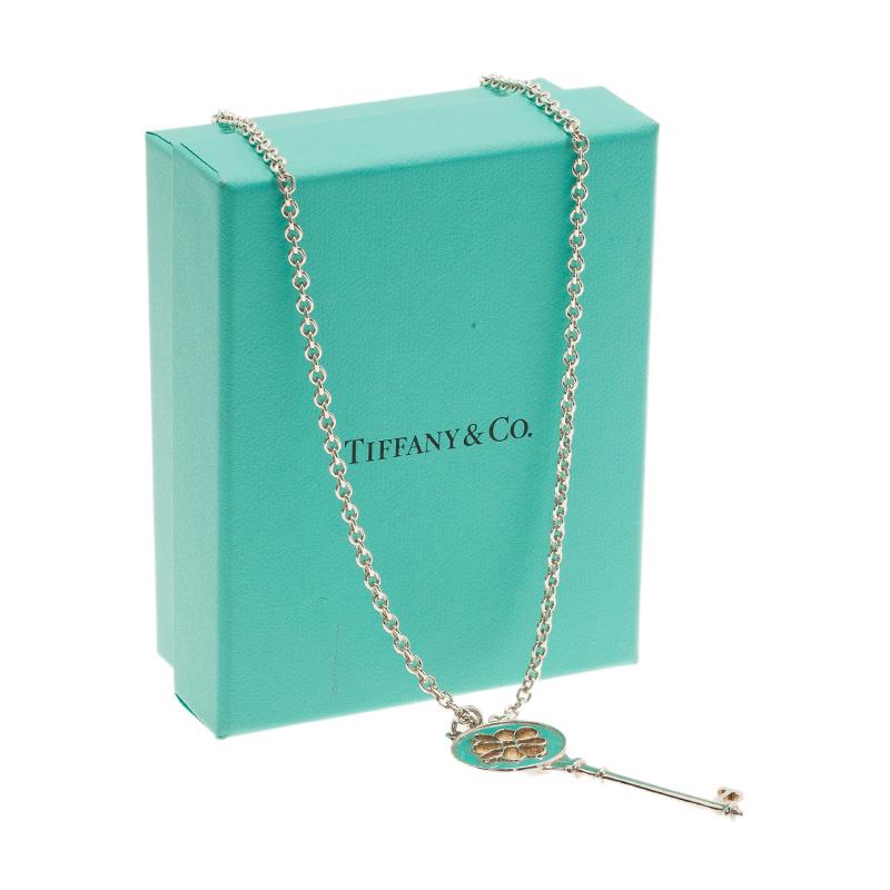 Tiffany & Co. Tiffany Keys Knot Key Pendant Necklace