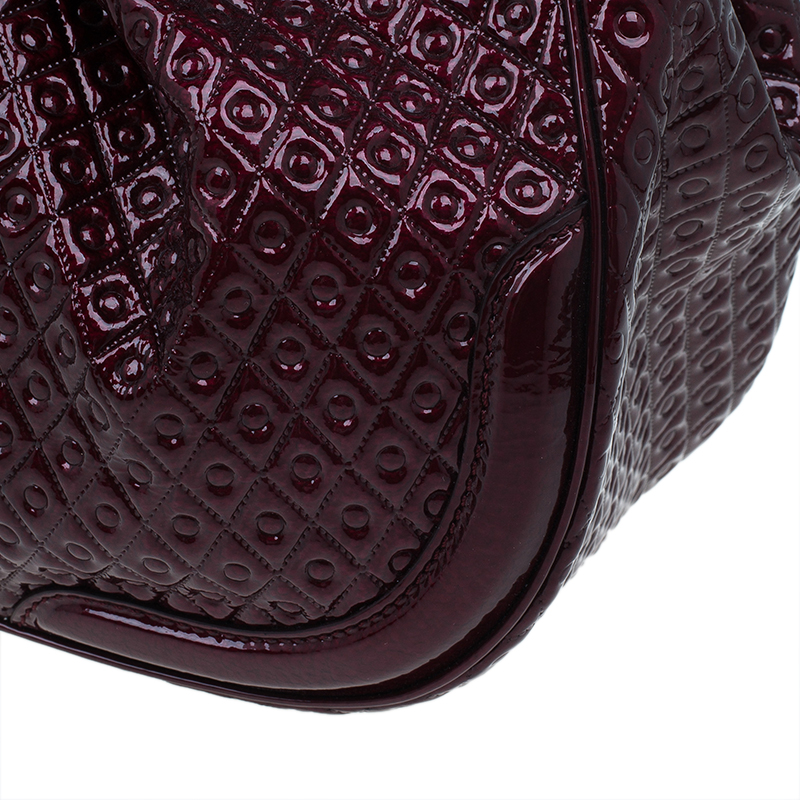 Tod's Signature Burgundy Patent Top Handle