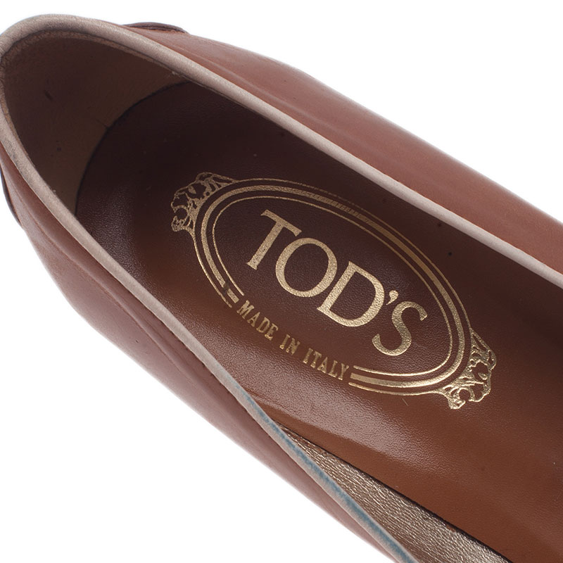 Tod's Brown Leather Pumps Size 40
