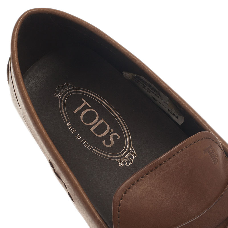 Tod's Brown Leather Penny Loafers Size 44.5