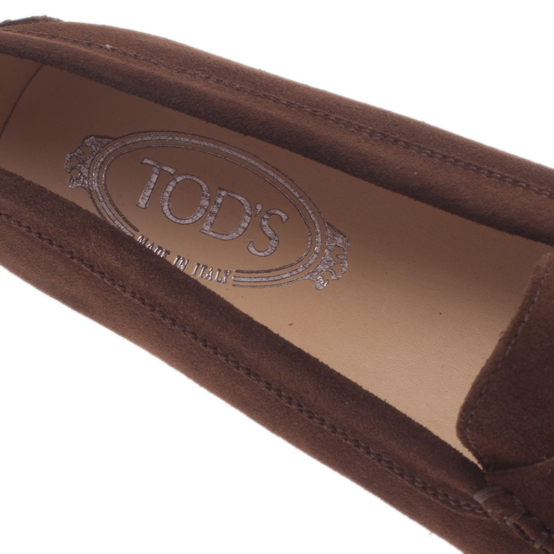 Tod's Brown Suede Penny Loafers Size 40