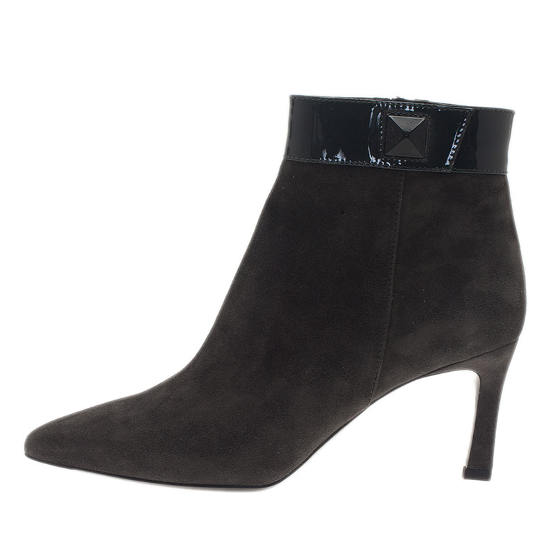 Tod's Grey Suede Ankle Booties Size 39