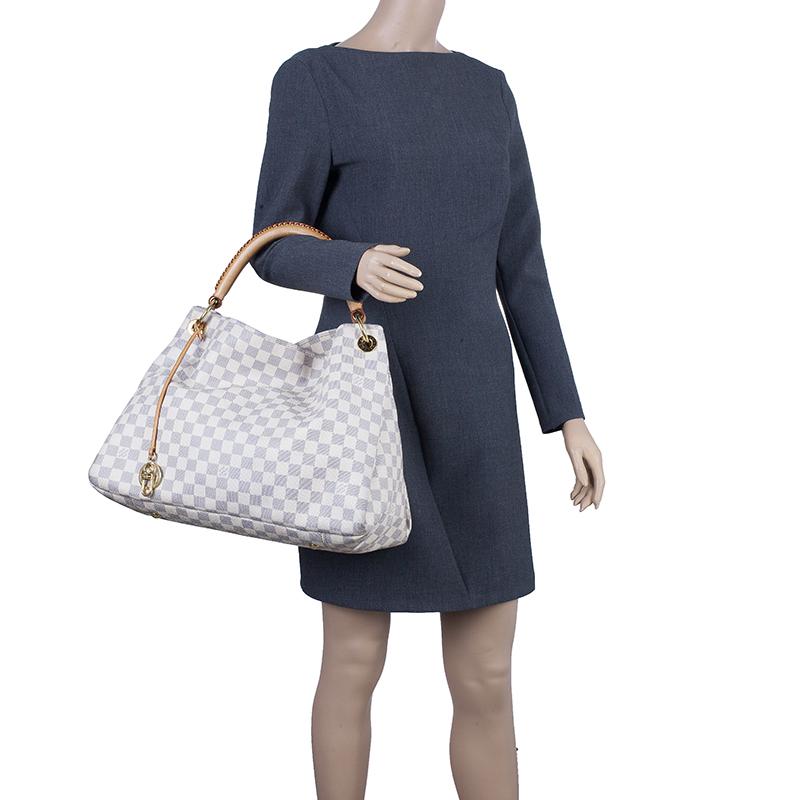 Louis Vuitton Coated Canvas Damier Azur Artsy GM