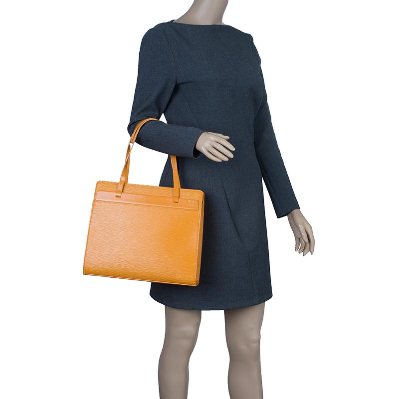 Louis Vuitton Orange Epi Leather Croisette PM