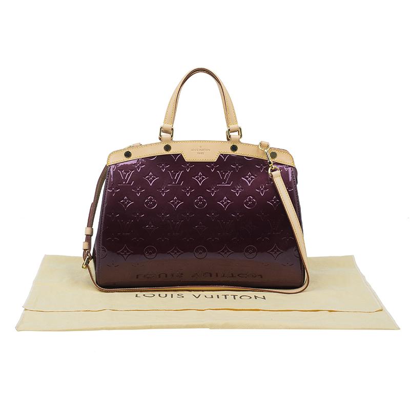 Louis Vuitton Burgundy Monogram Vernis Brea MM Shoulder Bag