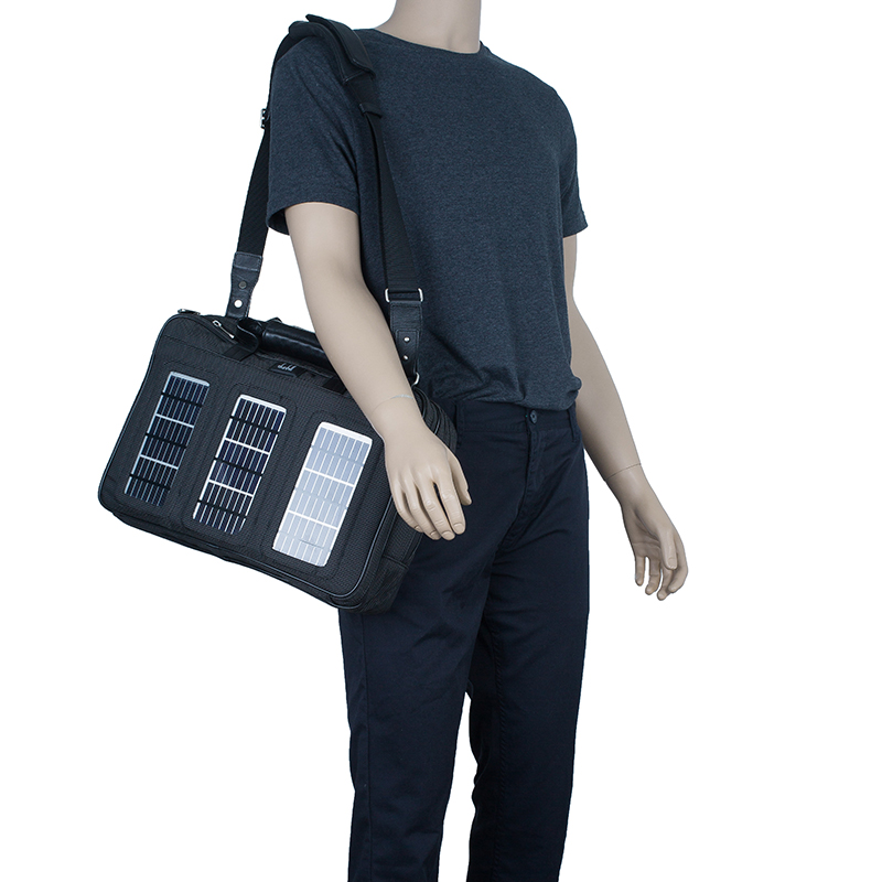 Dunhill Black Nylon Avorities Solar Panel Messenger Bag