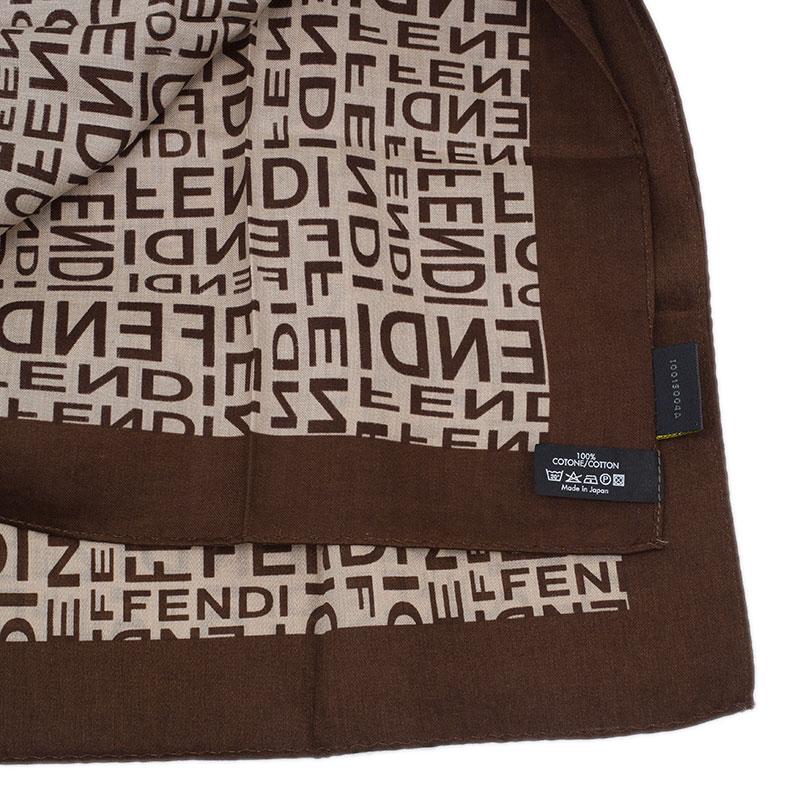 Fendi Logo Silk Square Scarf